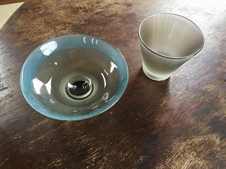 空の色 鉢、ロックグラス / 須藤泰孝